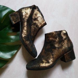 Vagabond bronze golden daisy booties size 36